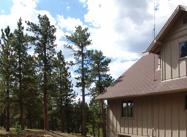 First antenna on the roof at our house in Estes Park