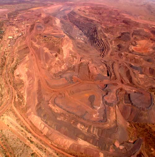 Active iron ore mine at Newman