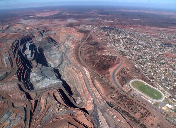 Active Gold Mine at Kalgoorlie