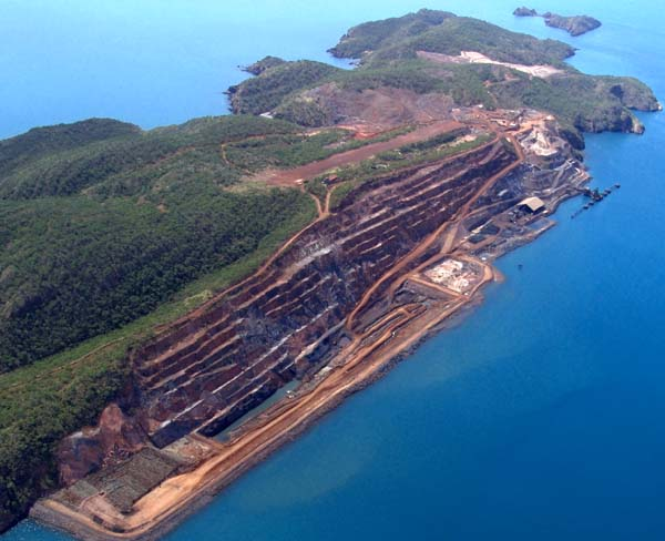 Active iron ore mine at Cockatoo Is. Kimberly