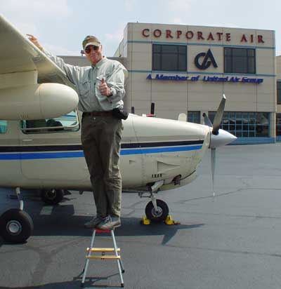 Ueli is checking the fuel situation at Allegheny Airport (KAGC)
