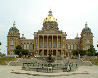 Iowa State Capitol Building at Des Moines